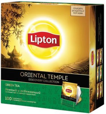 Чай LIPTON (Липтон) Discovery Green Oriental Temple, зеленый, 100 пакетиков по 2 г, 21187770 чай lipton oriental temple зеленый байховый