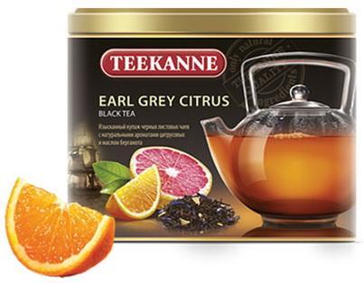 Чай TEEKANNE (Тикане) Earl Grey Citrus, черный, бергамот/цитрус, листовой, 150 г, Германия майский чайная матрешка синяя черный листовой чай 30 г