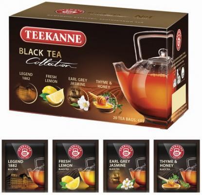 Чай TEEKANNE (Тикане) Black tea collection, черный, ассорти 4 вкуса, 20 пакетиков, Германия, 45621 соннентор чай проказник херувим ассорти попробуй 20 пакетиков