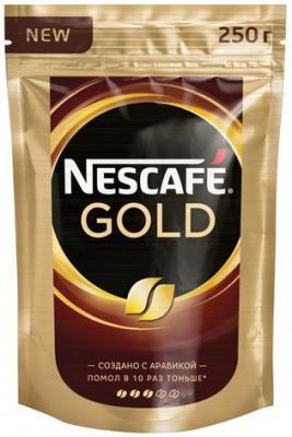 Кофе молотый в растворимом NESCAFE (Нескафе) Gold, сублимированный, 250 г, мягкая упаковка, 12143978 кофе молотый в растворимом jacobs millicano 250 г