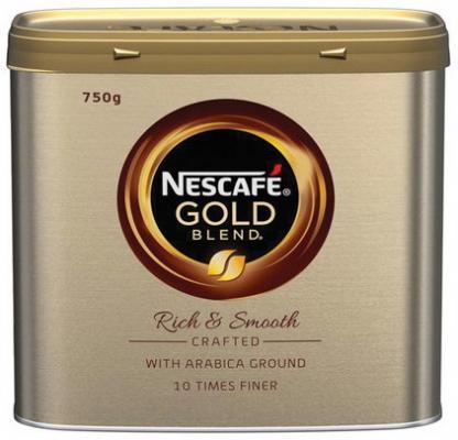 Кофе молотый в растворимом NESCAFE (Нескафе) Gold, сублимированный, 750 г, жестяная банка, 12372523 кофе молотый в растворимом jacobs millicano 250 г