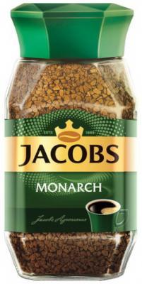 Кофе растворимый JACOBS MONARCH, сублимированный, 190 г, в стеклянной банке, 11233 jacobs monarch кофе натуральный растворимый в стиках 10 шт
