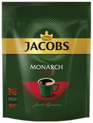 Кофе растворимый JACOBS MONARCH Intense, сублимированный, 150 г, мягкая упаковка, 37804 jacobs monarch кофе натуральный растворимый в стиках 10 шт