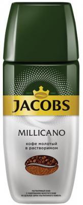 Кофе молотый в растворимом JACOBS MONARCH Millicano, сублимированный, 95 г, стеклянная банка, 41015 кофе молотый в растворимом jacobs millicano 250 г