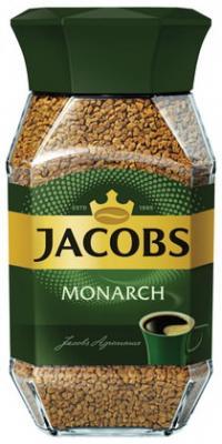 Кофе растворимый JACOBS MONARCH (Якобс Монарх), сублимированный, 95 г, стеклянная банка, 11309 jacobs monarch кофе натуральный растворимый в стиках 10 шт