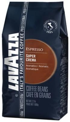Кофе в зернах LAVAZZA (Лавацца) Espresso Super Crema, натуральный, 1000 г, вакуумная упаковка, 4202 lavazza caffe espresso 1000 beans эспрессо зерно вакуумная упаковка
