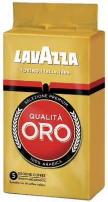 Кофе молотый LAVAZZA (Лавацца) Qualita Oro, натуральный, арабика 100%, 250 г, вакуумная упаковка, 1991 кофе молотый egoiste noir натуральный 250 г 100% арабика вакуумная упаковка 2549