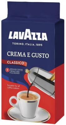"цена Кофе молотый LAVAZZA (Лавацца) ""Crema e Gusto"", натуральный, 250 г, вакуумная упаковка, 3876 онлайн в 2017 году"