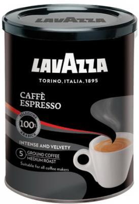 Кофе молотый LAVAZZA (Лавацца) Caffe Espresso, натуральный, 250 г, жестяная банка, 1887 tchibo espresso sicilia style кофе молотый 250 г
