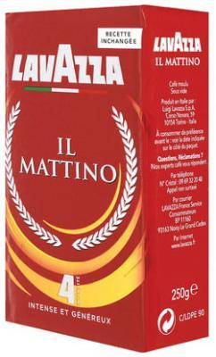 Кофе молотый LAVAZZA (Лавацца) Mattino, натуральный, 250 г, вакуумная упаковка, 3201 кофе молотый egoiste noir натуральный 250 г 100% арабика вакуумная упаковка 2549
