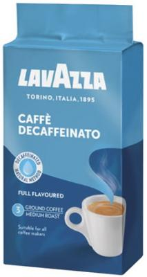 Кофе молотый LAVAZZA (Лавацца) Decaffeinato, без кофеина, 250 г, вакуумная упаковка, 1000 lavazza caffe espresso 1000 beans эспрессо зерно вакуумная упаковка