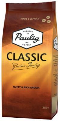 Кофе в зернах PAULIG (Паулиг) Classic, натуральный, 250 г, вакуумная упаковка, 16496 кофе paulig паулиг эспрессо оригинальный в зернах 250г пакет