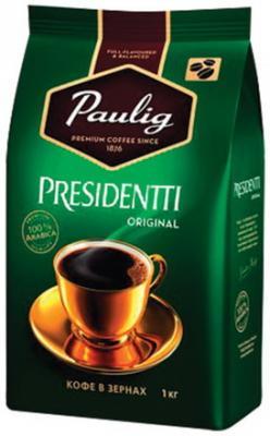 Кофе в зернах PAULIG (Паулиг) Presidentti Original, натуральный, 1000 г, вакуумная упаковка, 16975 кофе paulig паулиг эспрессо оригинальный в зернах 250г пакет