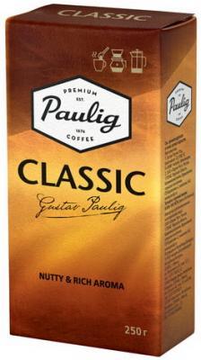 Кофе молотый PAULIG (Паулиг) Classic, натуральный, 250 г, вакуумная упаковка, 16277 кофе молотый egoiste noir натуральный 250 г 100% арабика вакуумная упаковка 2549