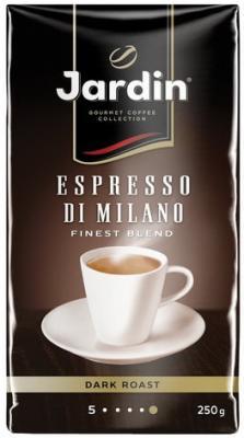Кофе молотый JARDIN (Жардин) Espresso di Milano, натуральный, 250 г, вакуумная упаковка, 0563-26 штатив bosch bt 250 0 601 096 a00
