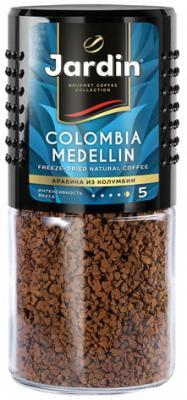 Кофе растворимый JARDIN (Жардин) Colombia Medellin, сублимированный, 95 г, стеклянная банка, 0627-14 кофе растворимый put coffee in de colombia сублимированный 75 г