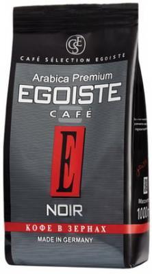 Кофе в зернах EGOISTE Noir, натуральный, 1000 г, 100% арабика, вакуумная упаковка, 12621 кофе молотый egoiste noir натуральный 250 г 100% арабика вакуумная упаковка 2549