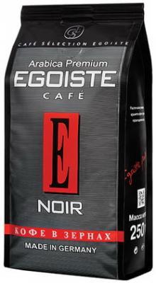 Кофе в зернах EGOISTE Noir, натуральный, 250 г, 100% арабика, вакуумная упаковка, 7348 кофе молотый egoiste noir натуральный 250 г 100% арабика вакуумная упаковка 2549