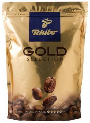 Кофе растворимый TCHIBO Gold selection, сублимированный, 285 г, мягкая упаковка, 10199 lebo gold кофе растворимый порционный 25 шт х 2 г