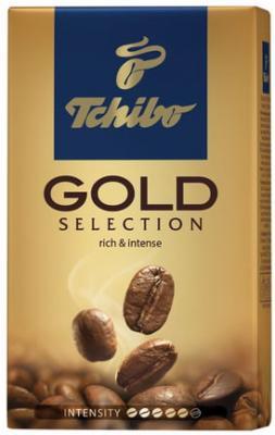 Кофе молотый TCHIBO (Чибо) Gold selection, натуральный, 250 г, вакуумная упаковка, 94368 кофе молотый egoiste noir натуральный 250 г 100% арабика вакуумная упаковка 2549