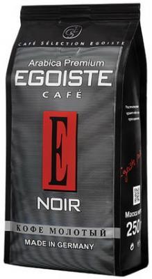 Кофе молотый EGOISTE Noir, натуральный, 250 г, 100% арабика, вакуумная упаковка, 2549 кофе молотый egoiste noir натуральный 250 г 100% арабика вакуумная упаковка 2549