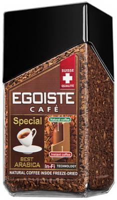 Кофе молотый в растворимом EGOISTE Special, натуральный, 100 г, 100% арабика, стеклянная банка, 8606 кофе молотый egoiste noir натуральный 250 г 100% арабика вакуумная упаковка 2549