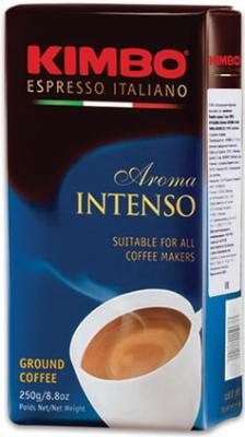 "Кофе молотый KIMBO ""Aroma Intenso"" (Кимбо ""Арома Интенсо""), натуральный, 250 г, вакуумная упаковка"