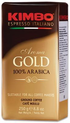 Кофе молотый KIMBO Aroma Gold Arabica (Кимбо Арома Голд Арабика), натуральный, 250 г, вакуумная упаковка кофе молотый egoiste noir натуральный 250 г 100% арабика вакуумная упаковка 2549