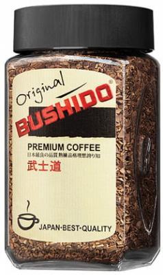 """лучшая цена Кофе растворимый BUSHIDO """"Original"""", сублимированный, 100 г, 100% арабика, стеклянная банка, 1004"""