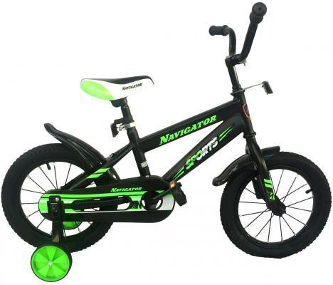 """Велосипед Navigator Sports 14"""" черно-зеленый ВН14200 цена и фото"""