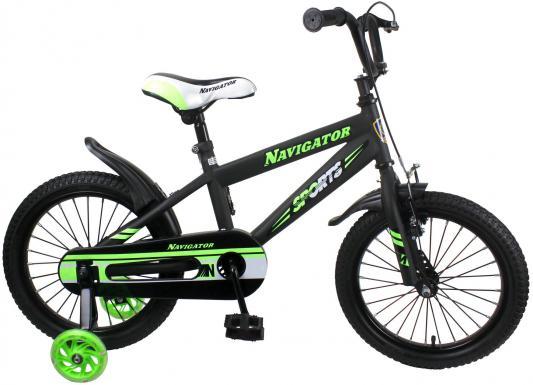 """Велосипед Navigator Sport I 16"""", черно-зеленый ВН16149"""