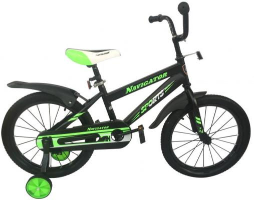 """Велосипед Navigator Sports 18"""" черно-зеленый ВН18113 цена и фото"""