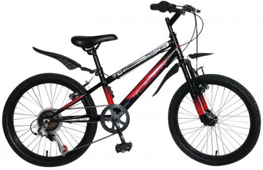 Велосипед Top Gear Fighter 20 черный ВН20207 top gear велосипед складной 20 eco 6 скоростей синий внс2086