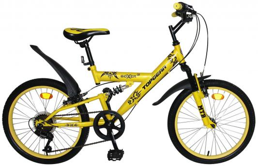Велосипед Top Gear Boxer 20 желтый ВН20204 top gear велосипед 26 neon 225 18 скоростей матовые цвета черный желтый вн26417