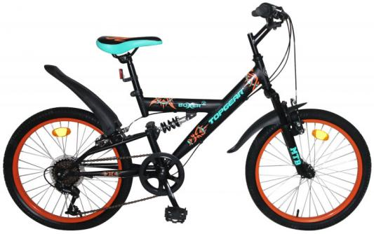 Велосипед Top Gear Boxer 20 черный ВН20205 top gear велосипед 26 neon 225 18 скоростей матовые цвета черный желтый вн26417