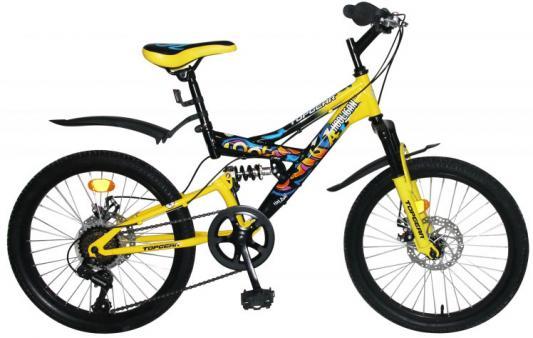 Велосипед Top Gear Hooligan 20 желтый ВН20209 top gear велосипед 26 neon 225 18 скоростей матовые цвета черный желтый вн26417