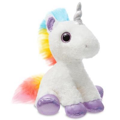 цена на Мягкая игрушка единорог AURORA Единорог радужный белый 30 см