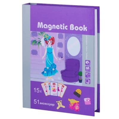 Магнитная игра Magnetic Book развивающая Кокетка развивающая игра magnetic book фантазия tav030