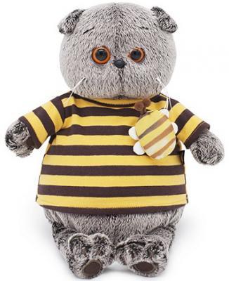 Фото - Мягкая игрушка BUDI BASA Ks22-092 Басик в полосатой футболке с пчелой 22см budi basa мягкая игрушка budi basa кот басик в полосатой футболке с пчелой 19 см