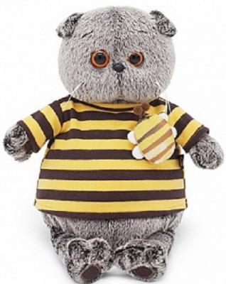 Фото - Мягкая игрушка BUDI BASA Ks25-092 Басик в полосатой футболке с пчелой 25 см budi basa мягкая игрушка budi basa кот басик в полосатой футболке с пчелой 19 см
