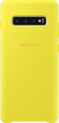 Чехол (клип-кейс) Samsung для Samsung Galaxy S10+ Silicone Cover желтый (EF-PG975TYEGRU)