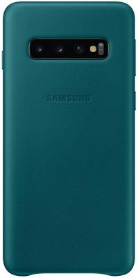 Чехол (клип-кейс) Samsung для Samsung Galaxy S10 Leather Cover зеленый (EF-VG973LGEGRU) чехол клип кейс samsung для samsung galaxy s10 leather cover красный ef vg975lregru