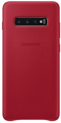 Чехол (клип-кейс) Samsung для Samsung Galaxy S10+ Leather Cover красный (EF-VG975LREGRU) чехол клип кейс samsung для samsung galaxy s10 leather cover белый ef vg975lwegru