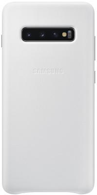 Чехол (клип-кейс) Samsung для Samsung Galaxy S10+ Leather Cover белый (EF-VG975LWEGRU) чехол клип кейс samsung для samsung galaxy s10 leather cover красный ef vg975lregru