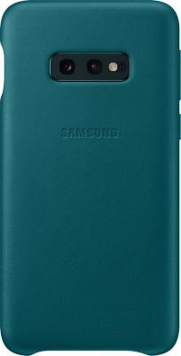 Чехол (клип-кейс) Samsung для Samsung Galaxy S10e Leather Cover зеленый (EF-VG970LGEGRU) клип кейс samsung dual layer ef pj330 для galaxy j3 2017 голубой
