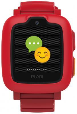 Смарт-часы Elari KidPhone-3G 15мм 1.3 TFT красный mp3 плеер digma c2l 4гб красный с черным