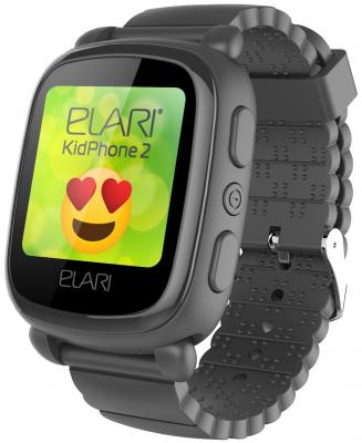 """Картинка для Смарт-часы Elari KidPhone 2 15мм 1.4"""" TFT черный"""