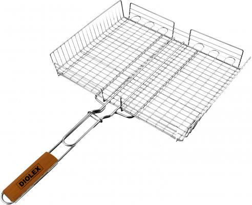0002G-DX Решетка-гриль Diolex глубокая (сталь с хромированным покрытием) 31*24