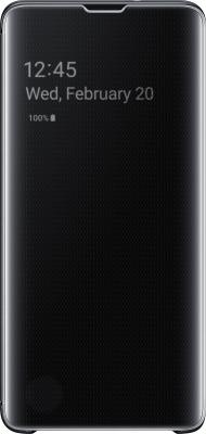 Чехол (флип-кейс) Samsung для Samsung Galaxy S10 Clear View Cover черный (EF-ZG973CBEGRU) цена