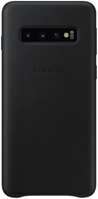 Чехол (клип-кейс) Samsung для Samsung Galaxy S10 Leather Cover черный (EF-VG973LBEGRU) чехол клип кейс samsung для samsung galaxy s10 leather cover белый ef vg975lwegru